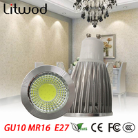 Z3010pcs Super Bright 3W 5W 7W GU10 E14 E27 GU5.3 MR16 LED Bulb Led Spotlights Warm white/Cold White LED lamp 85-265V