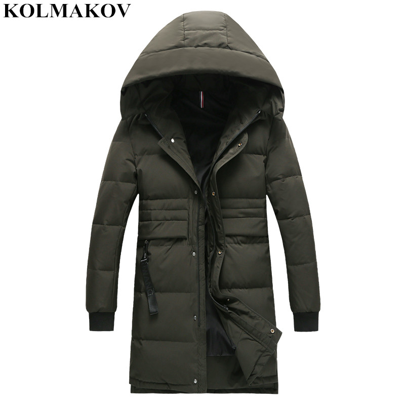 New Arrival Men's Duck   Down     Coats   Homme 2018 Winter Jackets Men Good Quality Casual Long Hooded   Coats   Male Plus Size M-3XL