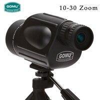 New Arrival 10 30X50 HD zoom waterproof telescope FMC Monocular Telescope brid Watch binoculars for hunting free shipping