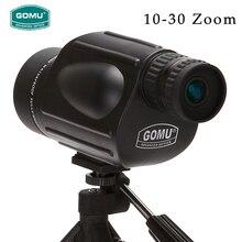 цена на New Arrival 10-30X50 HD zoom waterproof telescope FMC Monocular Telescope brid Watch binoculars for hunting free shipping
