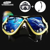 2017 New Professional Scuba Snorkeling Diving Mask Anti Fog Swimming Eyewear Goggles Glasses Set Silicone Fishing