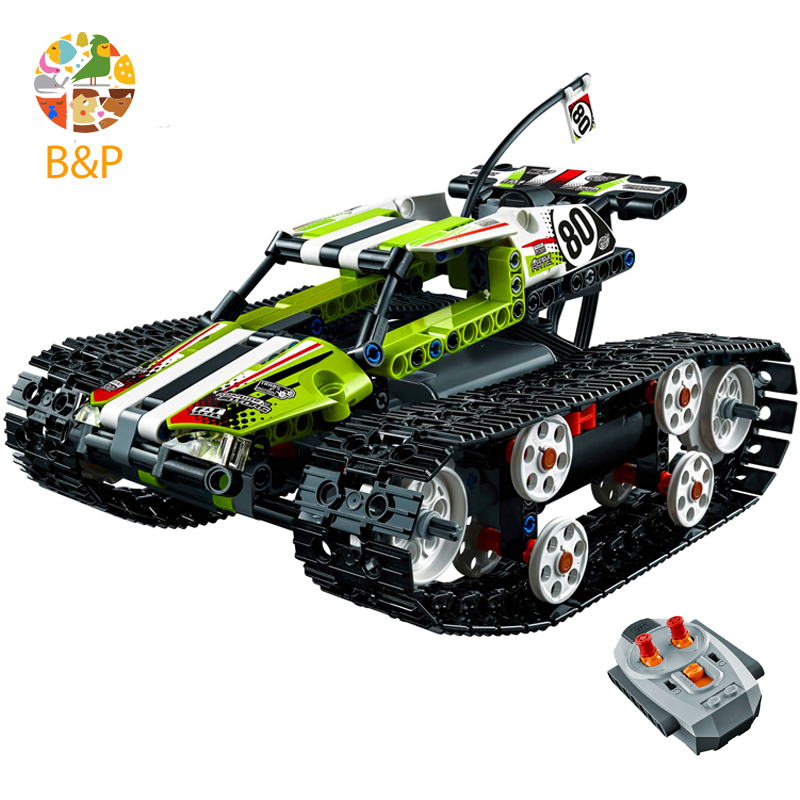 lepin Legoing 42065 Technic Series The Radio Controlled Tracked Race Building Blocks Brick kit Toys For Children Gift 20033