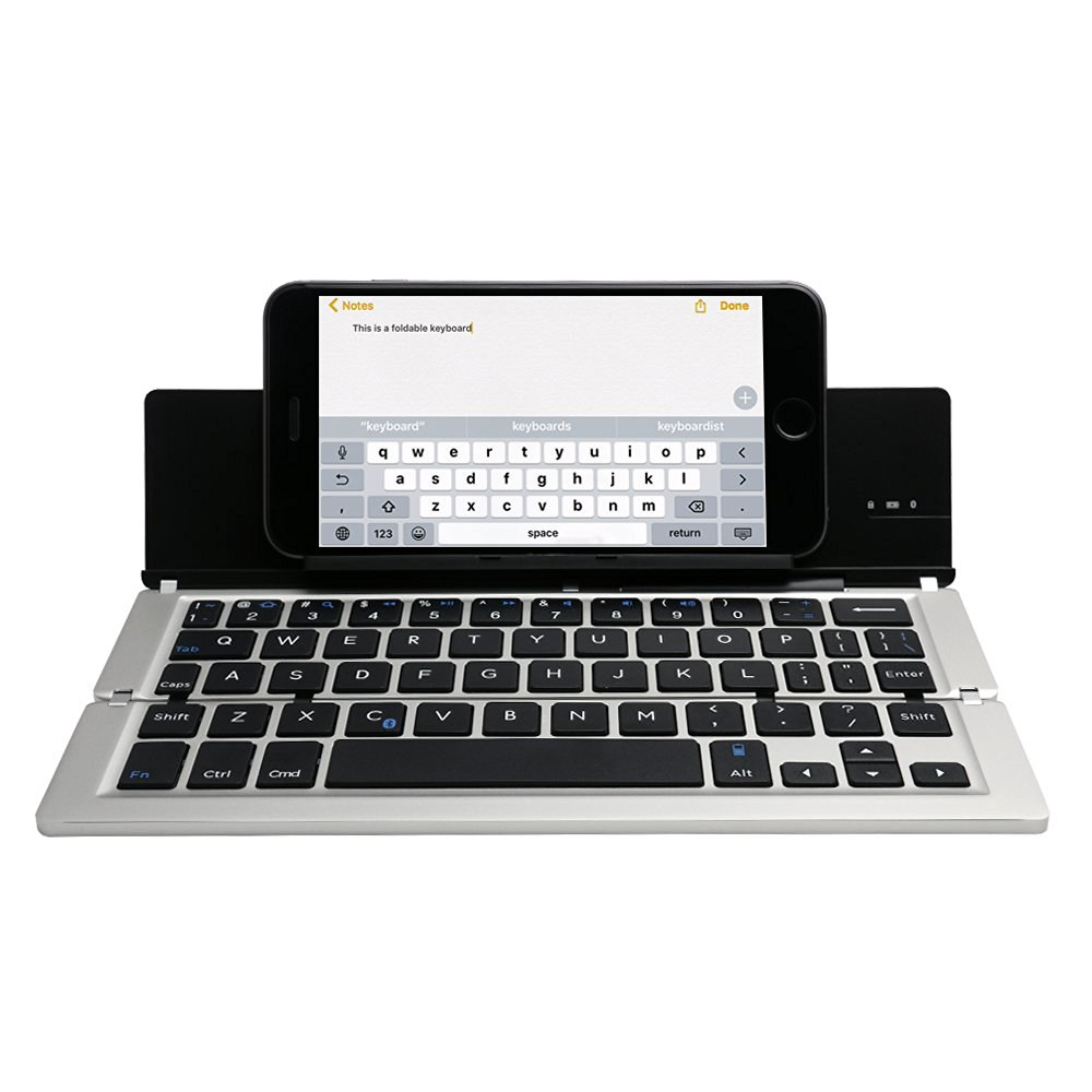 Folding Wireless Bluetooth Keyboard for Tablet IOS Android Smart Phones,Ultra-Slim Portable Mini Bluetooth Keyboard Fast ship
