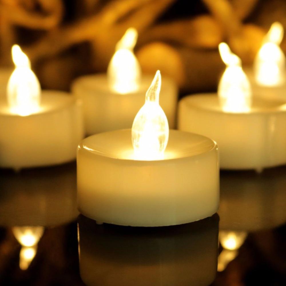 Warm White Flameless Led Candle Light