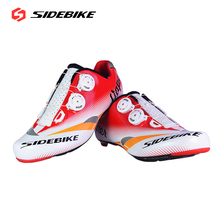 SIDEBIKE Self-locking Carbon Fiber Road Cycling Shoes Breathable Riding Bike Bicycle Lightweight Athletic Shoes 35-46 Sneaker