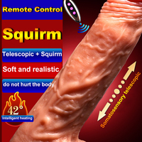 Soft Silicone Vibrator Swing Realistic Suction Cup Dildo Male Artificial Penis Dick Female Masturbator Sex Adults Toys for Women