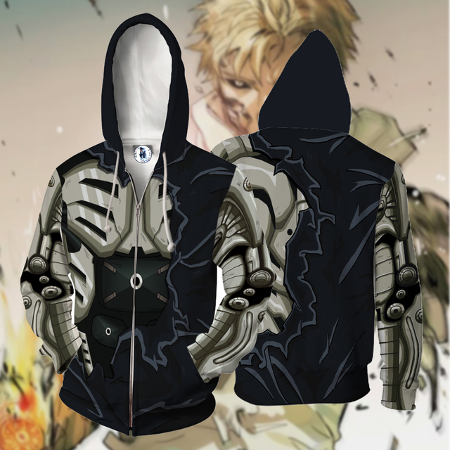 One Punch Man Zipper Hoodie