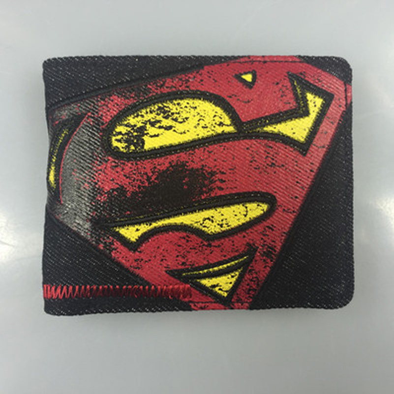Comics DC Marvel Vintage Leather Wallet Bat Man Super Men  Card Bags Wallets Dollar Price Gift Purse portafoglio uomo 4.5 inch comics dc marvel dollar price wallets men women super hero anime purse creative gift fashion leather bags carteira masculina