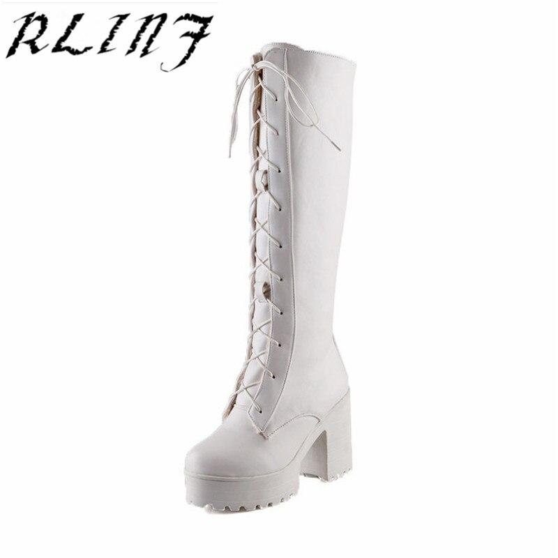 Rlinf 2018 Femmes Talons Single Martin Automne Et D'hiver up velvet Vache Chaussures single Noir Avec Haute De À Dentelle Hauts velvet Bottes TKl1cuFJ3