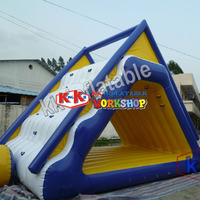 Inflatable slide tunnel combination Triangle inflatable water park climbing slide toy