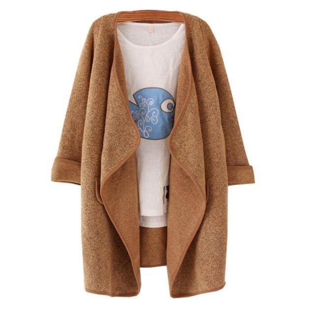 Осень Зима Женщины Моды Кардиган Полушерстяные Пальто Леди Повседневная Элегантный Теплый Трикотаж Пиджаки Блузка Топы Манто Casaco Oct19