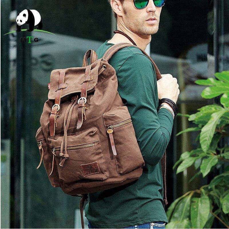 7cef6e0b24a MTG Brand Man s Canvas Backpack Travel Schoolbag Male Backpack Men Large  Capacity Rucksack Shoulder School Bag Mochila Escolar-in Backpacks from  Luggage ...