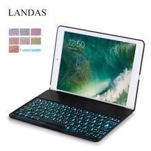 Landas Backlit Keyboard For iPad Air 2 Case Cover Wireless Bluetooth 6 A1566 A1567