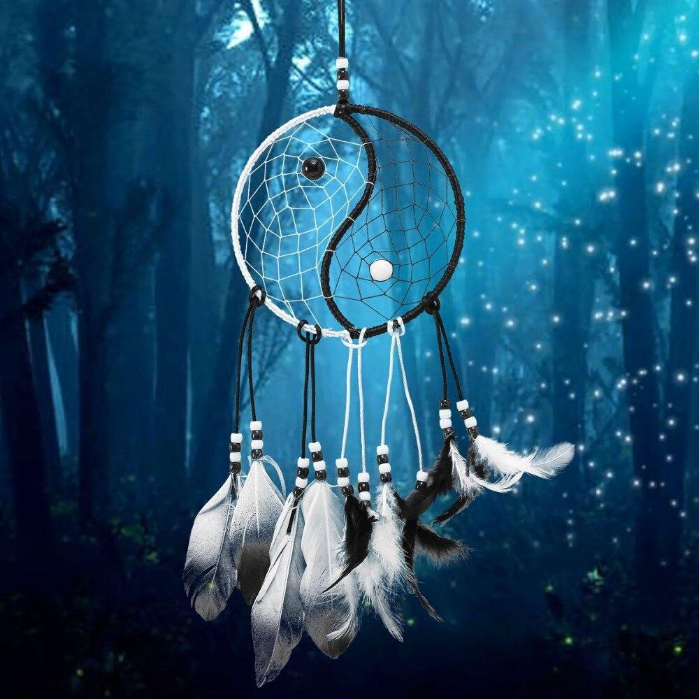 Dream catcher decorazioni per la casa piuma dreamcatcher campanelli eolici stile indiano religiosa della mascotte auto decorazione della parete ornamento