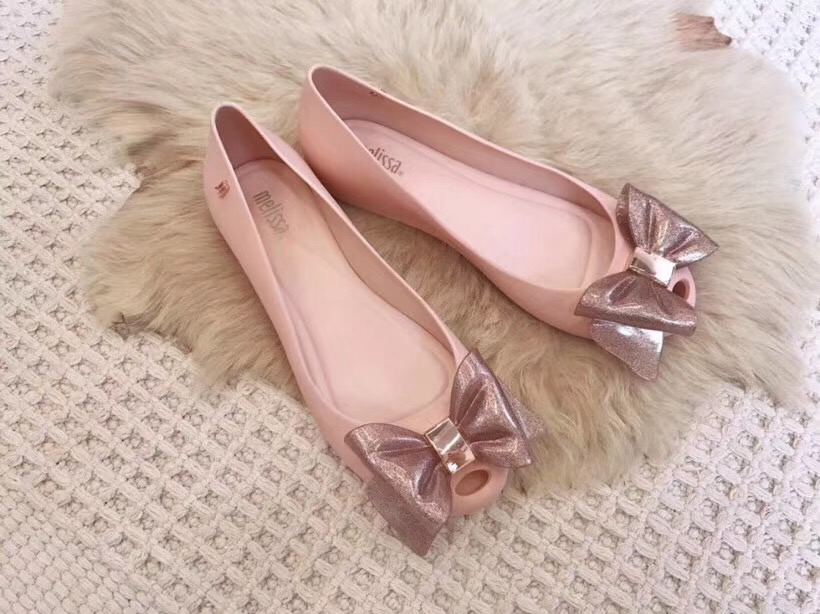 Melissa Style Women Sandals Bowtie  Summer Ladies Sandals Melissa Female Shoes Non-slip Women Melissa Jelly Sandals Breathable