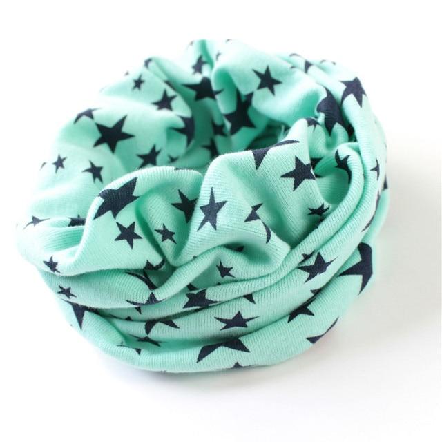 Stars Print Ring Scarves for children Warmer Scarf Autumn Winter Kids Boys Girls Neckerchief Collar Hat Mask 3
