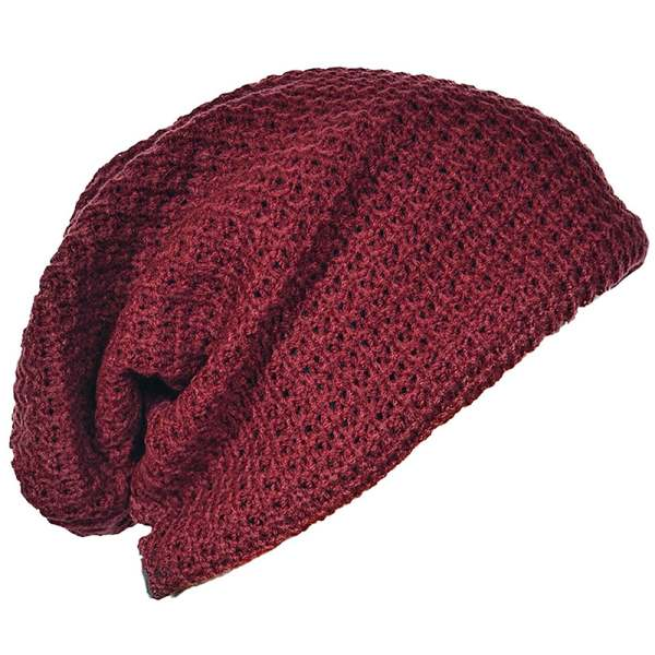 Men and women Slouchy Long Beanie Knit Cap for Summer Winter Oversize Jujube 6color women and microcredit