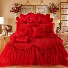 Jacquard สีแดง/สีชมพู/สีเบจหรูหรา Ruffles ผ้าไหมซาติ...