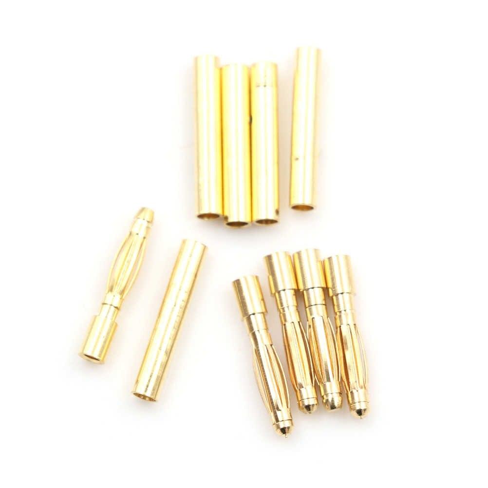 Мужской/женский 5 пара/лот безщеточный Banana Plug 2,0 мм 2 мм Золотая пуля Разъем покрытием для ESC Батарея