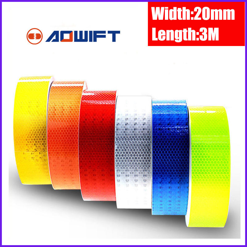 2CMx3M Safety Caution Adhesive Reflective Warning Sticker Self White Red For Truck Motorcycle Bicycle Car Styling Light Tape
