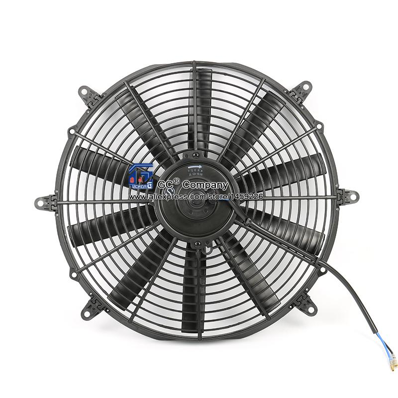 Universal 14 inch Radiator Fan Electric Fan Radiator 12V 24V for Street Rat Hot Rod Classic