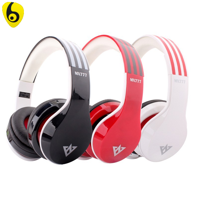 OVLENG MX777 Bluetooth 3.0 Headset Stereo Wireless Headphones with Mic Support FM & TF Card & MP3 / MP4 ovleng wireless bluetooth 4 0 headphones foldbale stereo headset with microphone ovleng v8 3 for phone handfree calls music