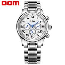 DOM мужские часы лучший бренд класса люкс часы водонепроницаемые механические часы кожа смотреть Бизнес reloj hombre marca де lujo M-56