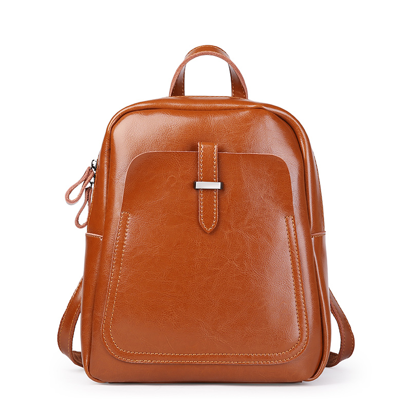 Ms. new style leather retro shoulder bag Ms. style high quality oil wax shoulder leather dual-use backpack new safurance welders dual leather