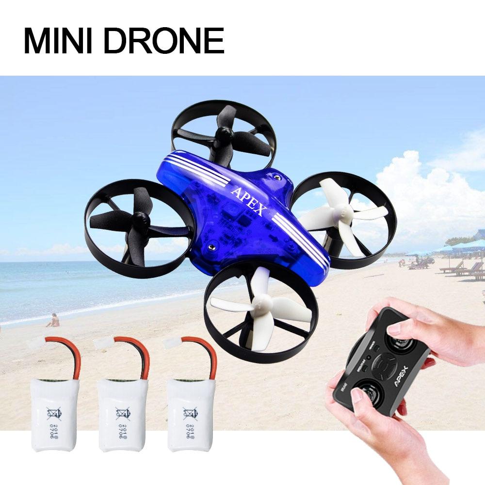 Mini Drone RC Quadcopter remoto control Drone RC Drone helicóptero 2,4G 6 Axis Gyro Micro con el modo sin cabeza un altitud para los adultos