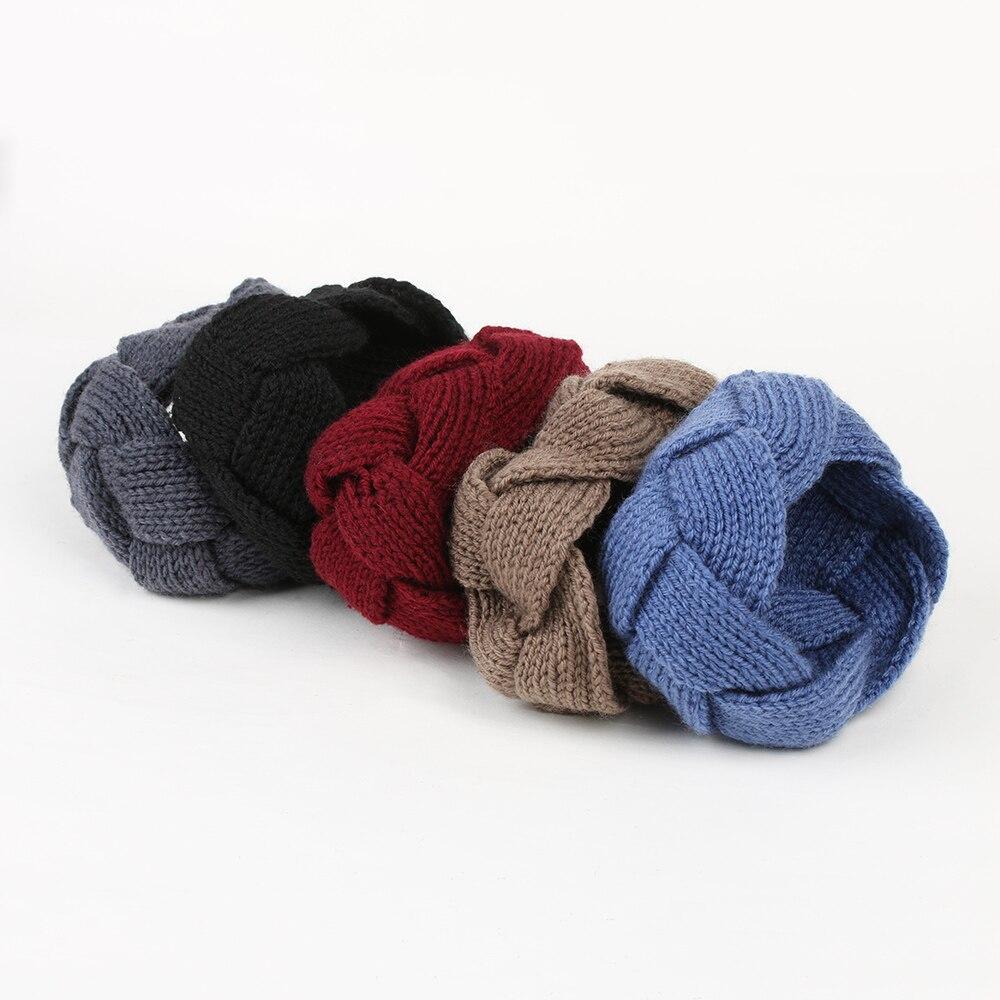 1PC Fahsion Crochet Twist Knitted Headband Headwrap Crochet Knitting Winter Warmer Hairband Hair Band Women Clothing Accessories
