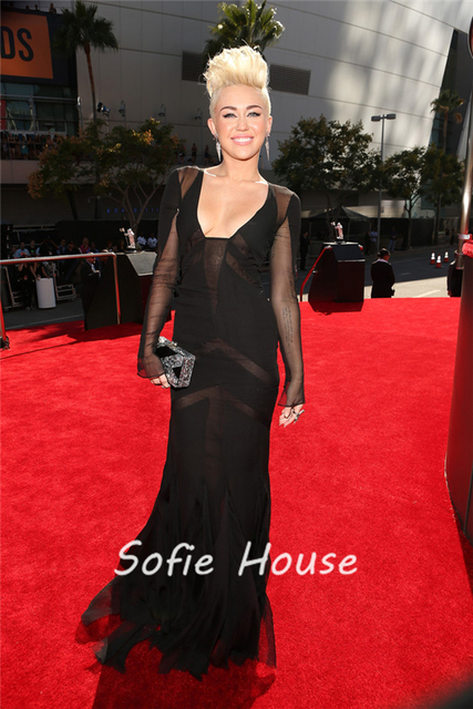 Are miley cyrus red carpet see through strange