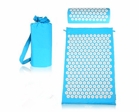 Massage Spike Yoga Mat Barbed Exercise Slim Fitness Pilates Massage Yoga Mat with Bag Acupressure Mat Banlance Pad Free Shipping