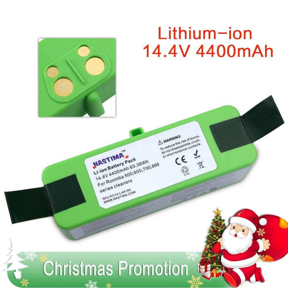 4400 mAh batería de iones de litio Compatible con iRobot Roomba R3 500, 600, 700, 800, 900 Series 500, 550, 560, 620, 650 660, 760, 770, 780, 870, 900