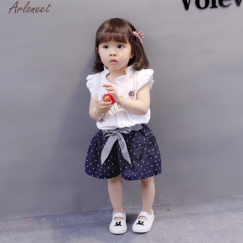 ARLONEET 2Pcs Infant Baby Girls Print Tops Vest+Shorts Outfits Clothes Set Newborn Clothes Boy Mar16 F20f30 2018 For Children