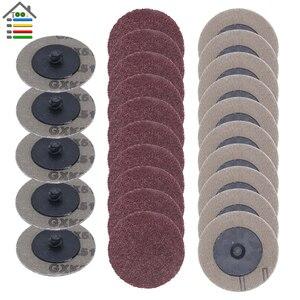 Image 1 - 25 個 50 ミリメートル Roloc ためサンディングディスク研磨パッドプレート 2 インチサンダー紙ディスク砥石研磨ツール 60 80 100 120 グリット