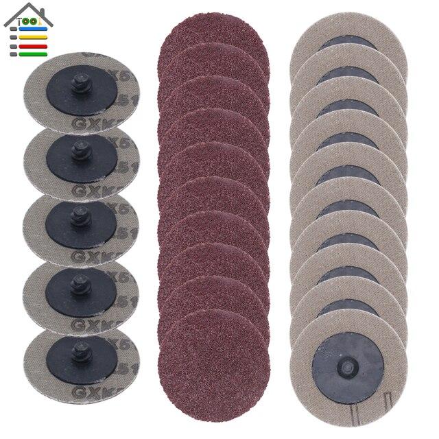 25 個 50 ミリメートル Roloc ためサンディングディスク研磨パッドプレート 2 インチサンダー紙ディスク砥石研磨ツール 60 80 100 120 グリット
