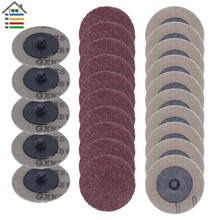 25pcs 50mm Sanding Disc for Roloc Polishing Pad Plate 2inch Sander Paper Disk Grinding Wheel Abrasive Tools 60 80 100 120 Grit