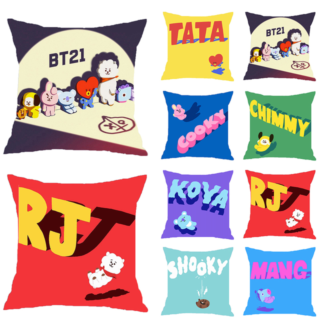 de5f53ec5aa3 2018 Hot BTS Pillow Case Plush Toys Bedding K-pop Fans Army Plush BTS  Cushion Cover Sofa Throw Bangtan Boys toys for children
