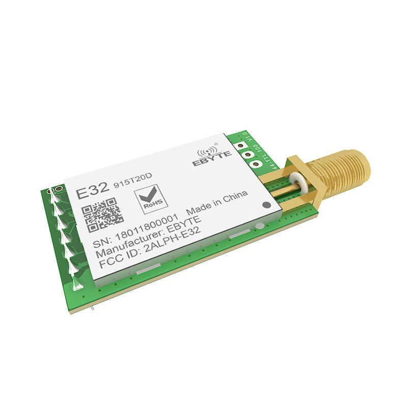 LoRa 915MHz SX1276 rf TCXO E32-915T20D トランシーバ無線モジュール ebyte 長距離 iot UART 915 433mhz の Rf 送信受信機