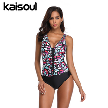 One Piece Black Swimsuit Tankini Women Swimming  Beachwear Sexy Bikini Swimwear New Arrival Patchwork Ruffled