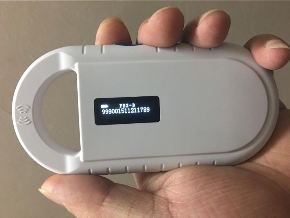 RFID 134.2KHz FDX-B ID64 ISO Chip Animal Handheld Reader Horse Chip Scanner