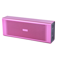 Воспоминания музыка розовый портативный динамик Bluetooth 6 Вт Поддержка карты памяти AUX FM радио USB для телефона Мощный беспроводной динамик с ми...