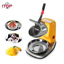 ITOP Commercial Electric Ice Crusher Shaver Ice Smoothie slushy Maker Machine 80kgs/h Electric Snow Cone Ice Maker цена в Москве и Питере