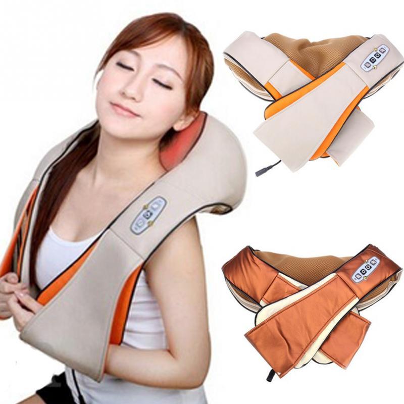U Форма электрические шиацу массажер для шеи, плеч тела Инфракрасный 3D разминание массажер ЕС/США Plug