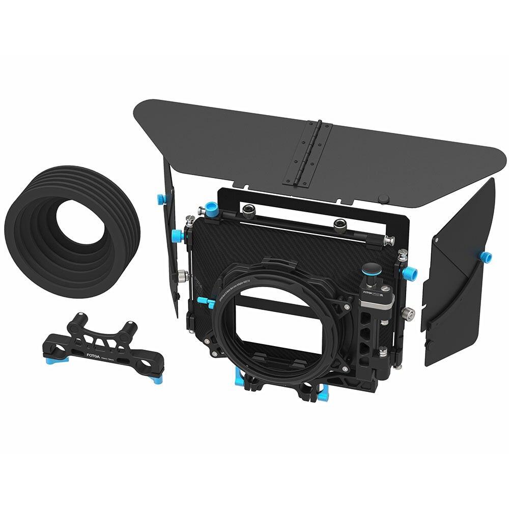 FOTGA DP500III PRO DSLR Swing-away Matte Box for 15mm/19mm Rod Camera Rig fotga dp500iii 15mm to 19mm rail rod clamp adapter for dslr qr follow focus rig f21812