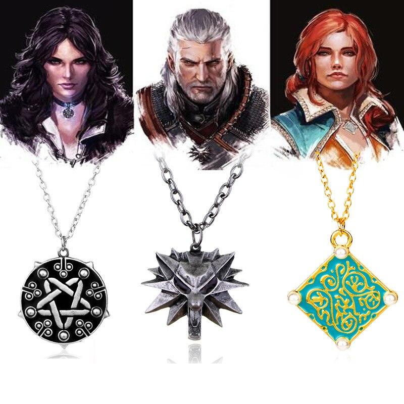 HANCHANG The Witcher 3 Selvatici Caccia Geralt Lupo Collana, Triss Collana Medaglione, Yennefer Della Collana Del Choker, Giochi Gioielli