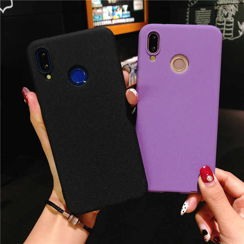 Slim Frosted Sand Texture Plastic Cover for Huawei P20 Lite P10 P9 P8 2017 Mate 10 Honor 8 9 5A 5C 6A 6X 6X 7X Matte Phone Cases