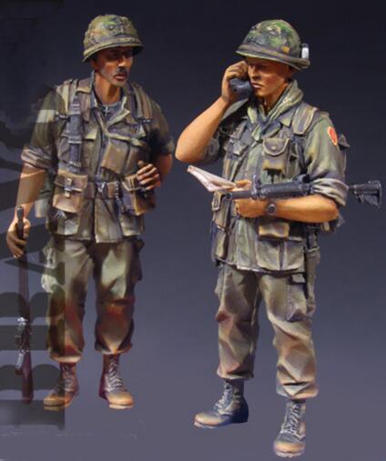 1/35 In Resina Kit Vietnam War US Army 2 pz/set1/35 In Resina Kit Vietnam War US Army 2 pz/set