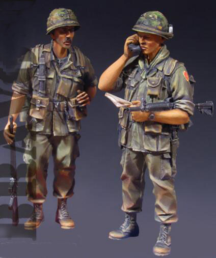 1/35 Resin Kits Vietnam War US Army 2pc/set image
