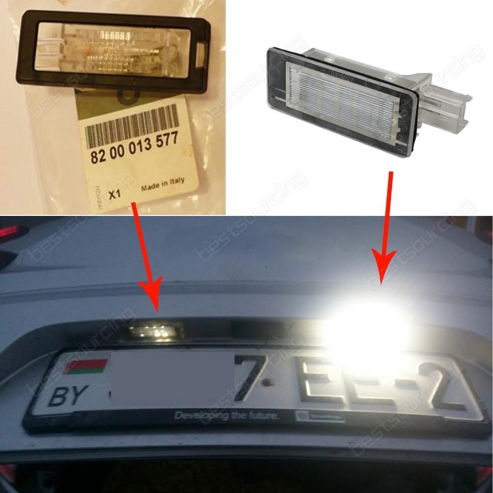 2pcs Error Free 18 SMD LED License Number Plate Light For Renault Lodgy (Fits: Renault Scenic)(CA325)